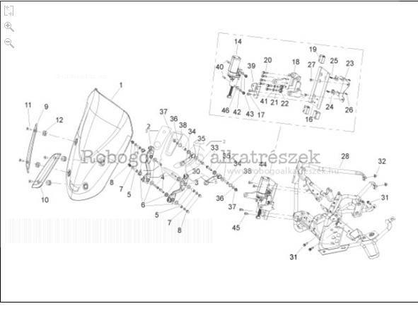 Gilera GP800 M.Y. M554M 2010-2011 ZAPM55100 Szélvédő plexi