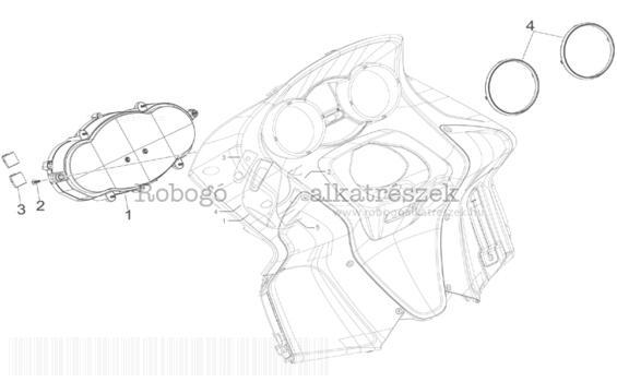 Gilera GP800 M.Y. M554M 2010-2011 ZAPM55100 Műszerfal