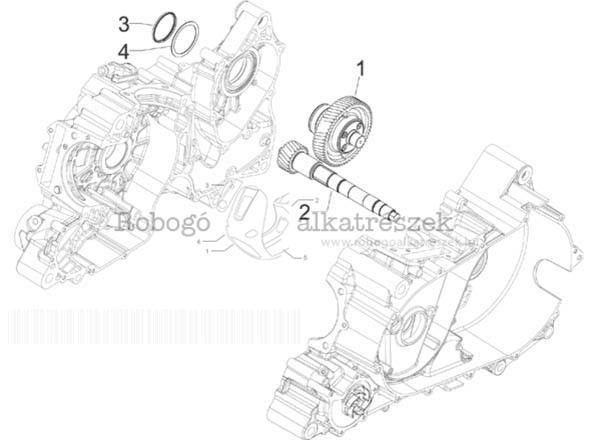 Gilera GP800 M.Y. M554M 2010-2011 ZAPM55100 Meghajtás - kihajtás