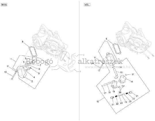 Ape Tm 703 2008-2012 Váltókar