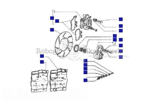 piaggio hexagon 250 gt honda engine  mf02e 1998-2000 zapm1400 brake caliper