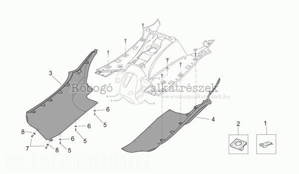 APRILIA LEONARDO 125 - 150 ST 2001-04 ZD4MBA5 Idom - Oldalidom