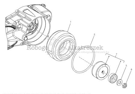 Piaggio MP3 300 4T 4V IE LT IBRIDO M652M 2010-2013 ZAPM72100 Elektro motor