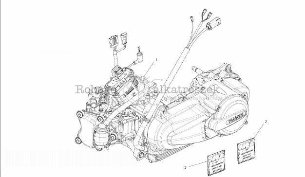 Piaggio MP3 300 4T 4V IE LT IBRIDO M652M 2010-2013 ZAPM72100 Motor kompletten