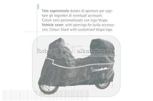 Vespa LX50 4T 2006-2009 ZAPC38300 Robogó takaró