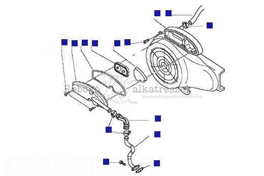 Vespa LX50 4T 2006-2009 ZAPC38300 Másodlagos levegőszűrőház