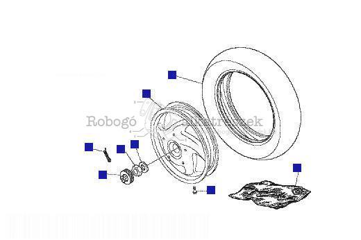 Vespa LX50 4T 2006-2009 ZAPC38300 Hátsó kerék - tárcsafék