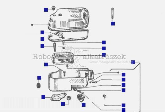 Air Cleaner Component Parts - Vespa T5 Classic 1985-90 VNX5T