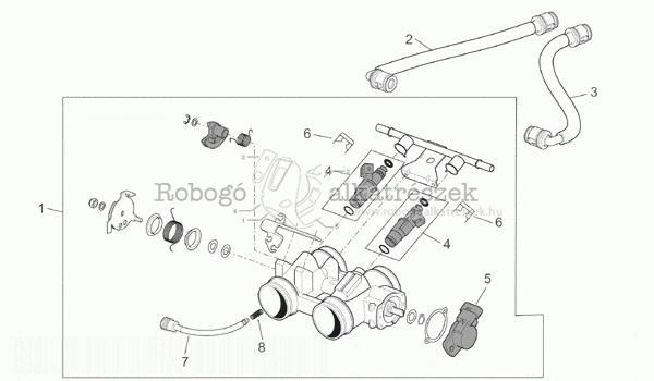 Throttle Body - Parts - APRILIA PEGASO 650 IE 2001-04 ZD4RW000