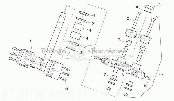 aprilia pegaso 650 strada 2005-09 zd4vdb steering-strada version