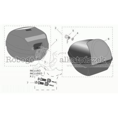 Kiegészítők - Csomagtartó dobozok alkatrészei