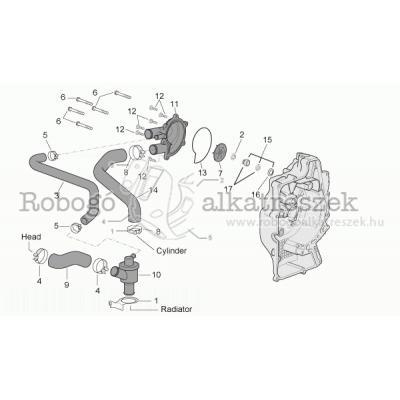 Vízpumpa (külső termosztát)