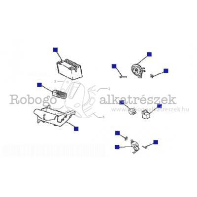 Kapcsolók - akkumulátor - kürt