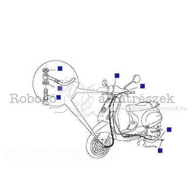 Bowdenek - hátsó fékcső