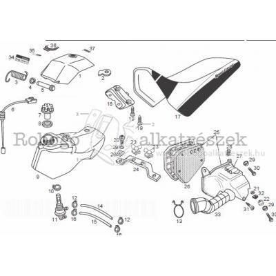 Üzemanyagtank - levegőszűrő - ülés